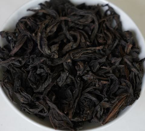 fo shou rock oolong dry leaves cliff tea wuyi wulong cha