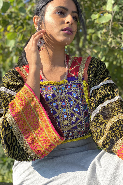 Vintage Afghan Tribal Choli Top- The Asal