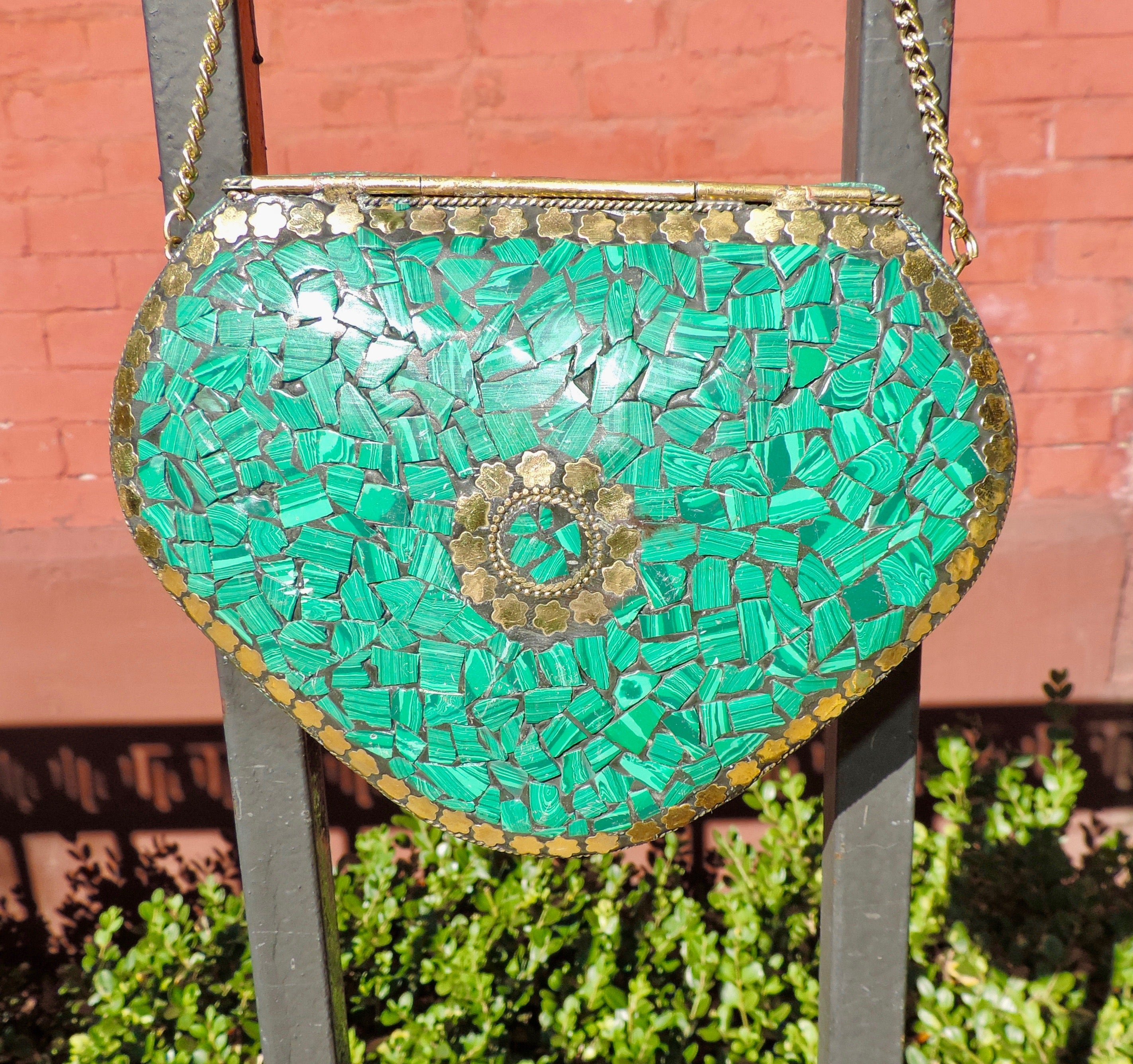 Indian Mosaic Bag- Basil