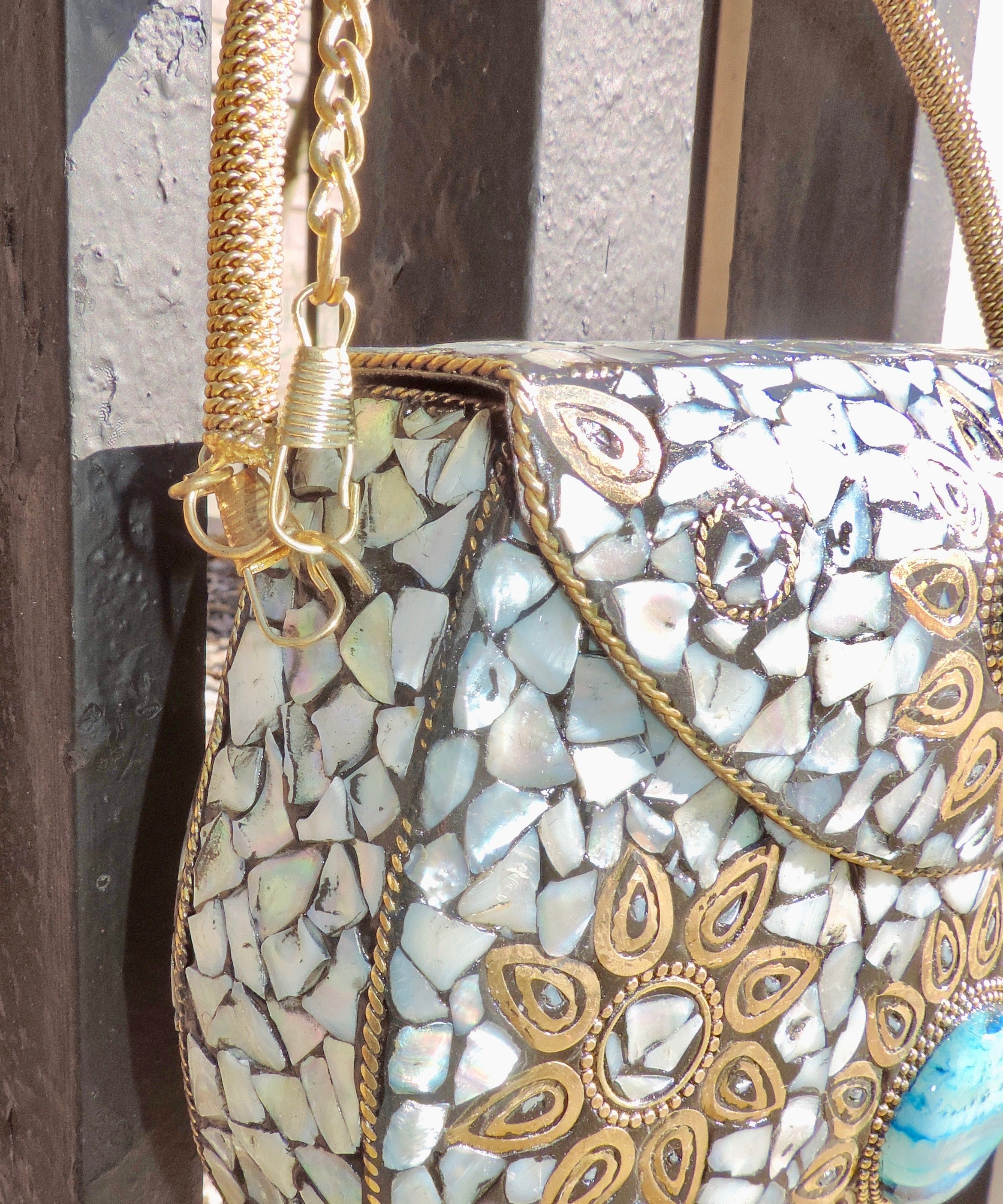 OCEAN MOTHER OF PEARL - BoBo Designed Mosaic Bag