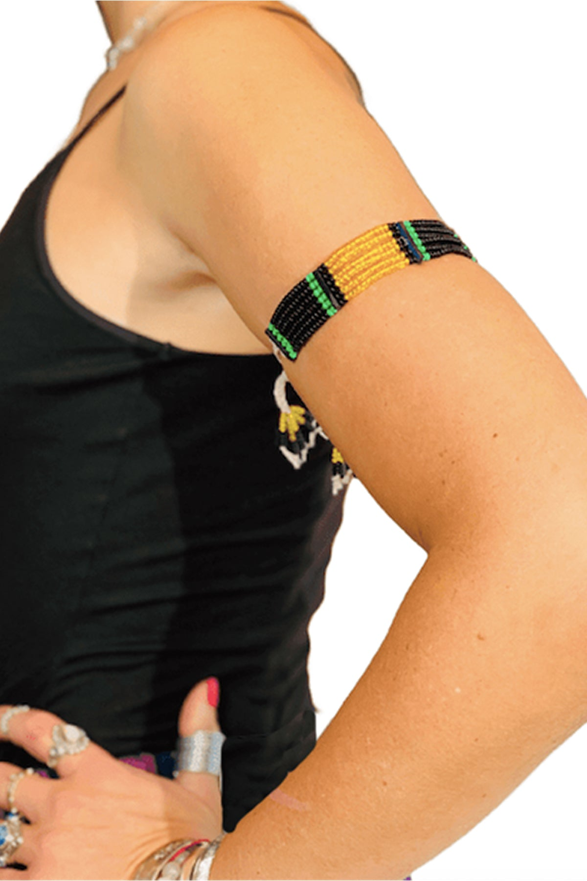 DIRE - Beaded Hamer Jewelry- Jamaican Flag