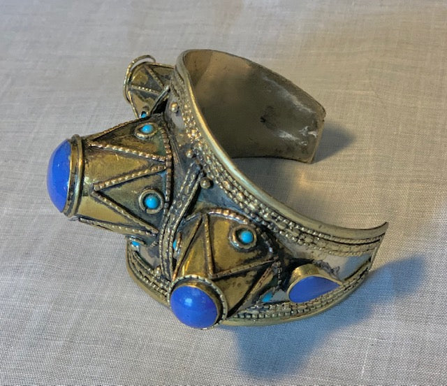 Afghan Boho Babe Spiked Cuff In Assorted Stones