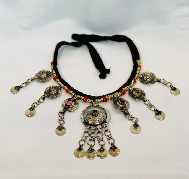 Medallion Afghan Vintage Necklace