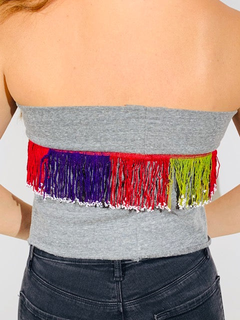 The Suzette - ZERO-WASTE Fringe Tube Top