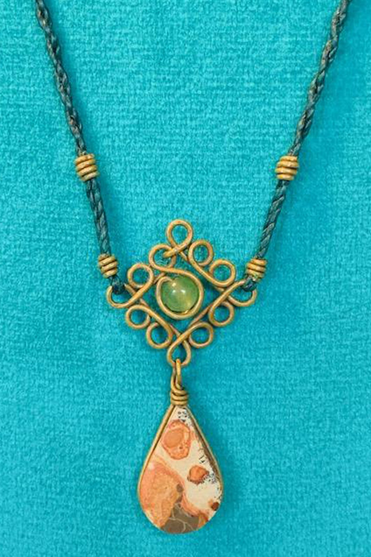 Mandala Necklace - Green With Jasper