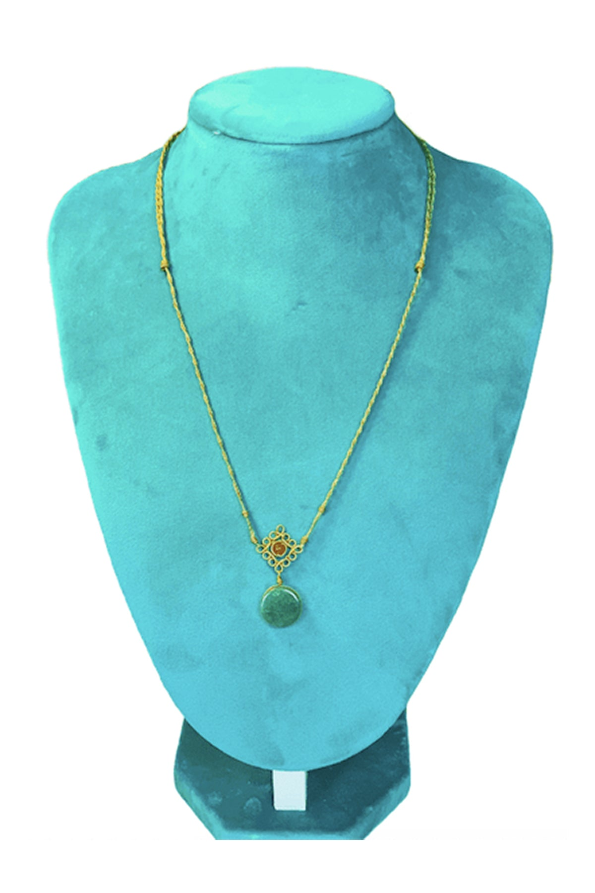 Mandala Necklace - Green And Verdite