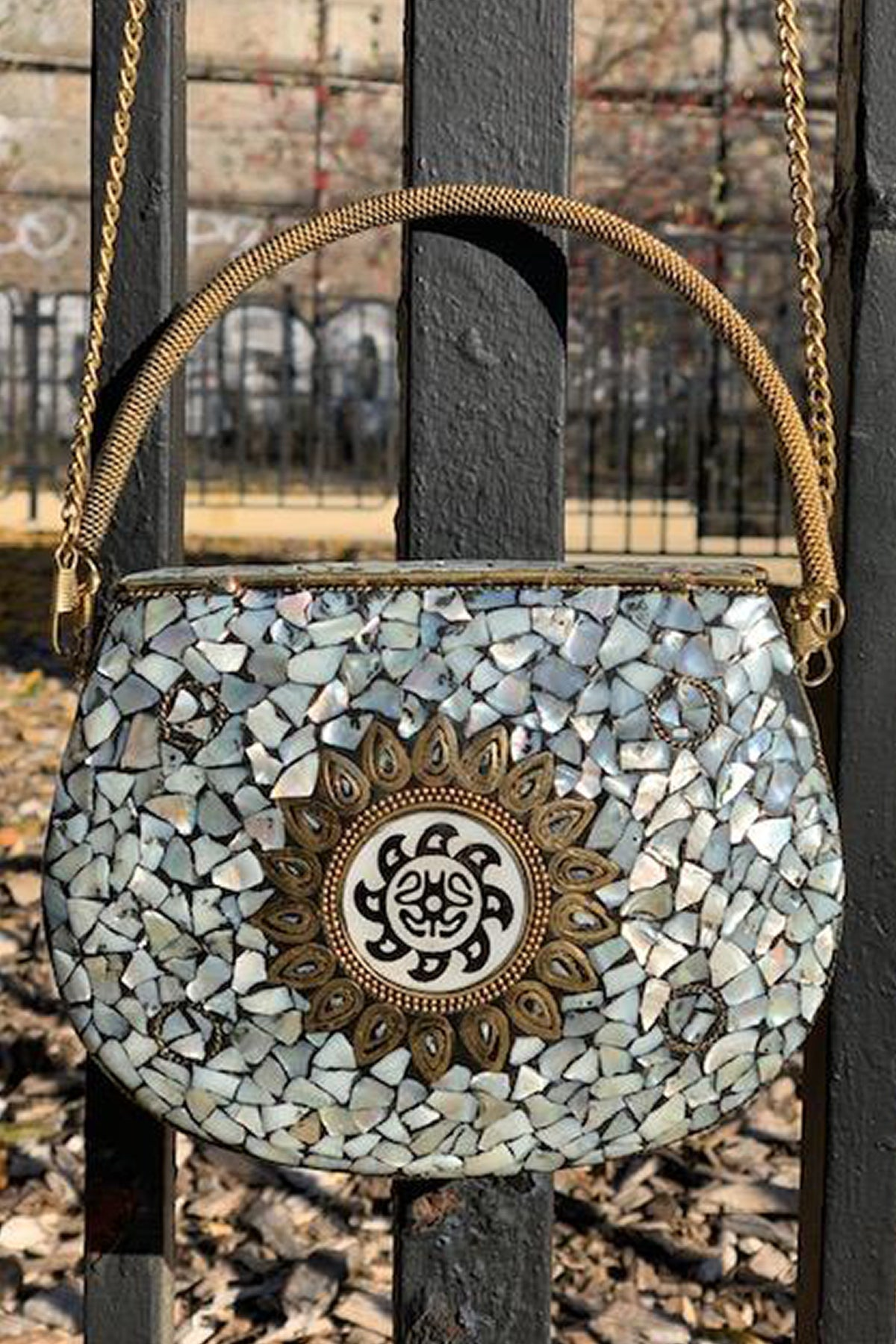 BoBo Designed Mosaic Bag -OCEAN MOTHER OF PEARL