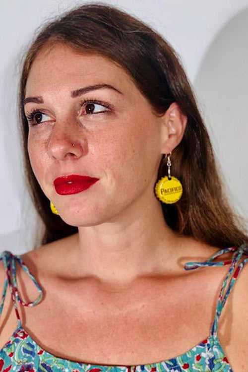 Pacifico Bottle Cap Earrings