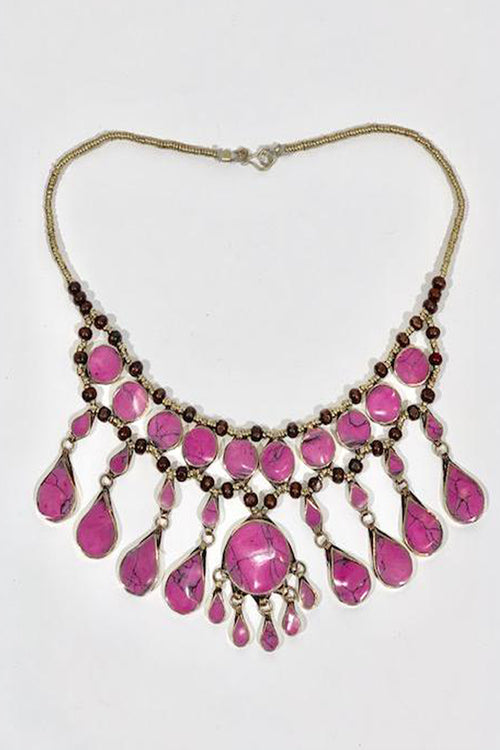 The Pink Rhodonite Necklace