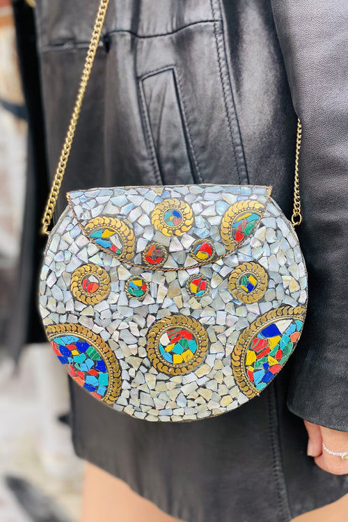 BoBo Designed Mosaic Bag -Rainbow Shell Mosaic