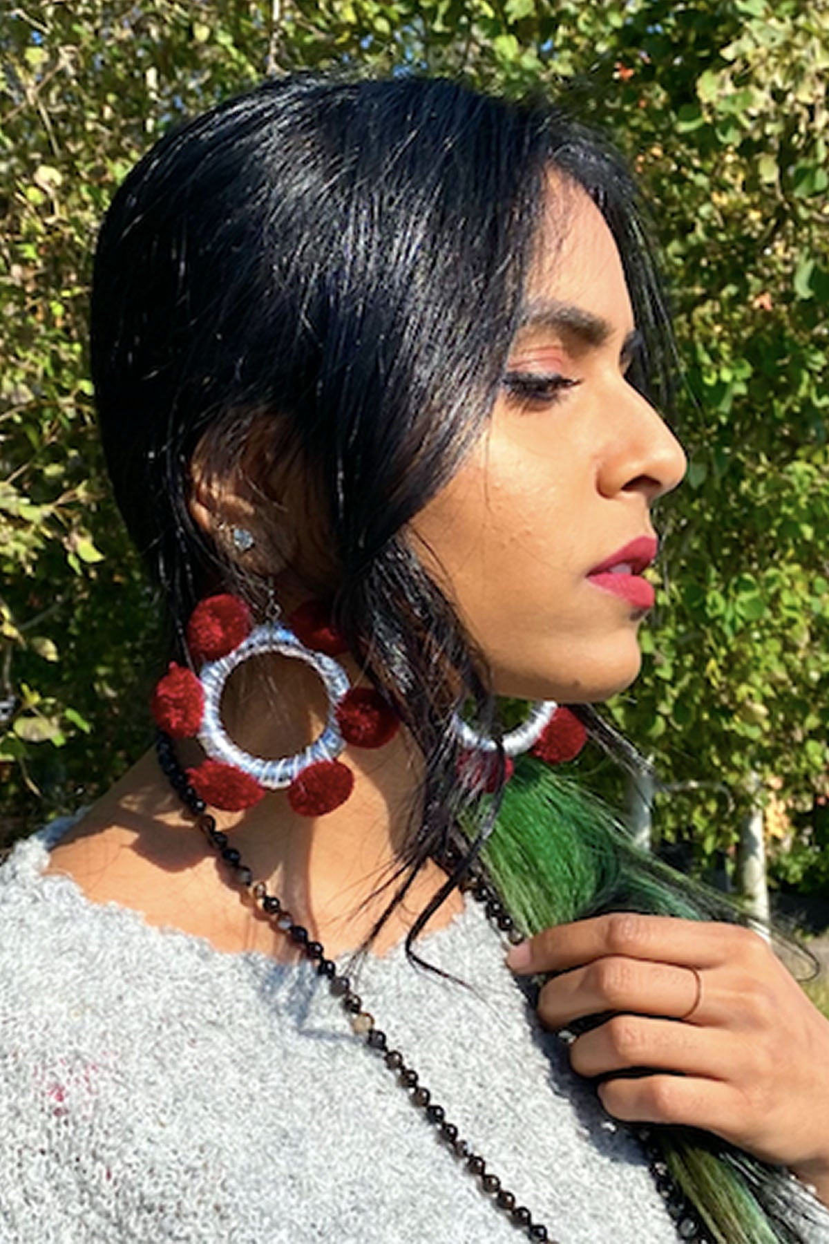 Alexia Hoops- Sweet Burgundy
