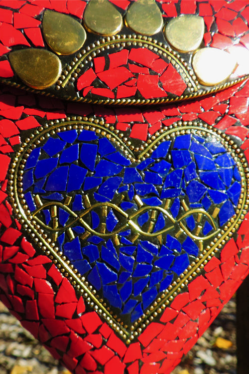 BoBo Designed Mosaic Bag -Sacred Heart Rouge