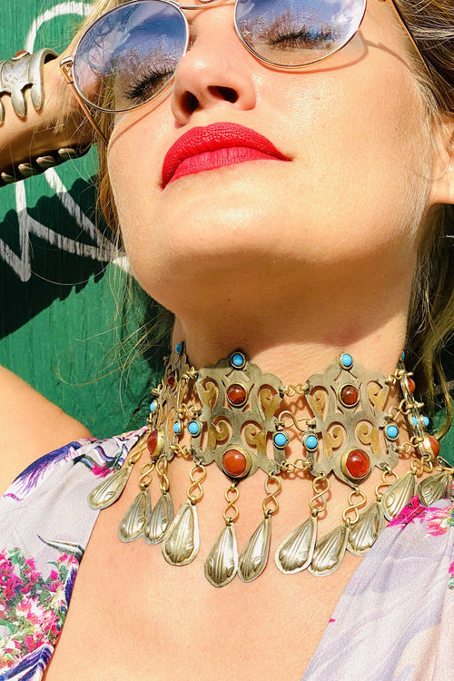 Vintage Turkmen - 'Fit For A Queen' Choker