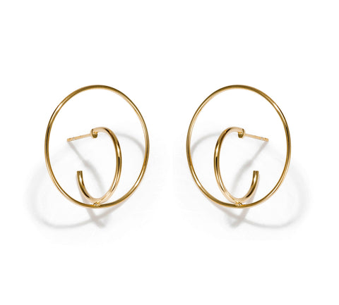 DOUBLE CIRCLE EARRING MEDIUM