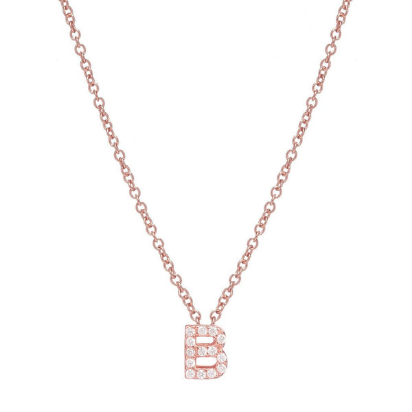 ROSE GOLD INITIAL NECKLACE - Sugar Bean Jewelry - 2