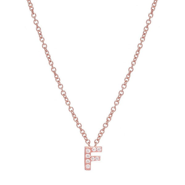 ROSE GOLD INITIAL NECKLACE - Sugar Bean Jewelry - 6