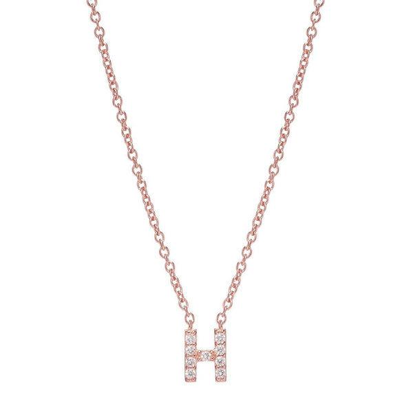 ROSE GOLD INITIAL NECKLACE - Sugar Bean Jewelry - 8