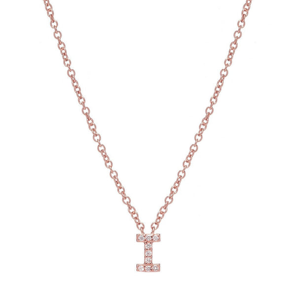 ROSE GOLD INITIAL NECKLACE - Sugar Bean Jewelry - 9
