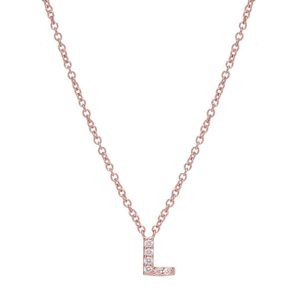 ROSE GOLD INITIAL NECKLACE - Sugar Bean Jewelry - 12
