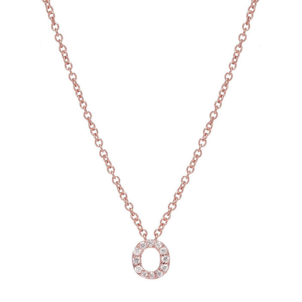 ROSE GOLD INITIAL NECKLACE - Sugar Bean Jewelry - 15