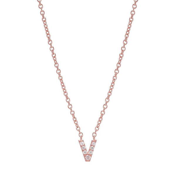 ROSE GOLD INITIAL NECKLACE - Sugar Bean Jewelry - 21
