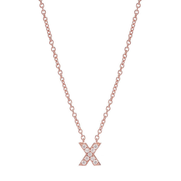 ROSE GOLD INITIAL NECKLACE - Sugar Bean Jewelry - 23