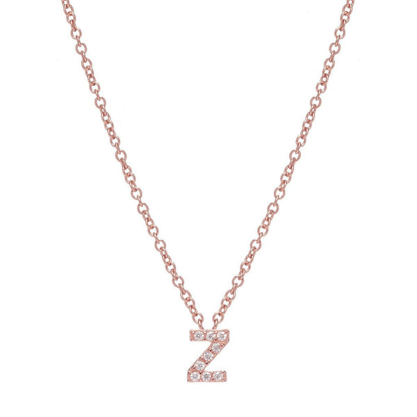 ROSE GOLD INITIAL NECKLACE - Sugar Bean Jewelry - 25