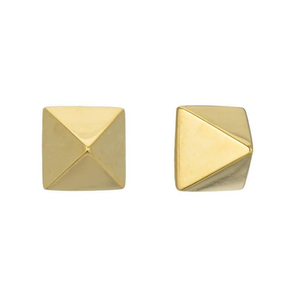 TAILORED PYRAMID STUD EARRINGS - Sugar Bean Jewelry - 1