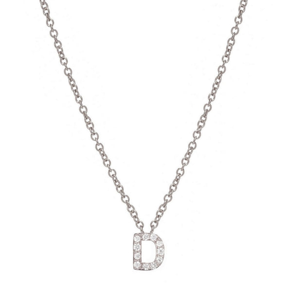 SILVER INITIAL NECKLACE - Sugar Bean Jewelry - 4