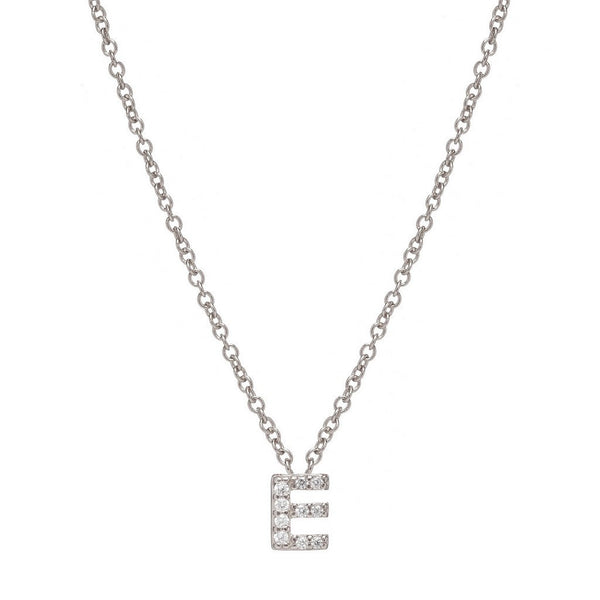SILVER INITIAL NECKLACE - Sugar Bean Jewelry - 5