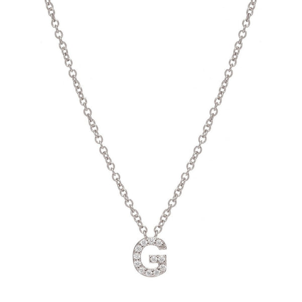 SILVER INITIAL NECKLACE - Sugar Bean Jewelry - 7