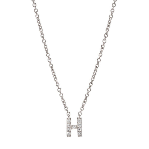 SILVER INITIAL NECKLACE - Sugar Bean Jewelry - 8