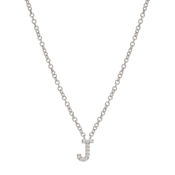 SILVER INITIAL NECKLACE - Sugar Bean Jewelry - 10