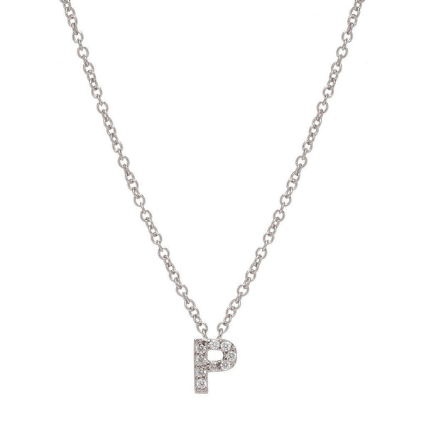 SILVER INITIAL NECKLACE - Sugar Bean Jewelry - 16
