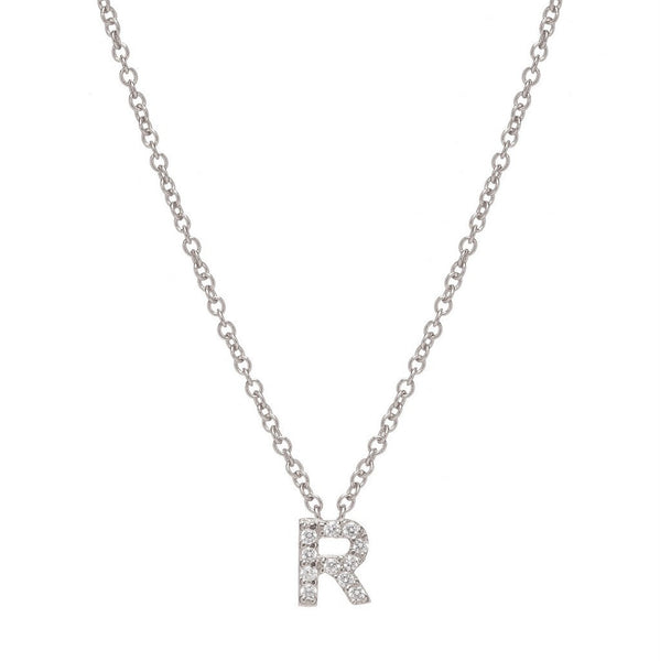 SILVER INITIAL NECKLACE - Sugar Bean Jewelry - 17