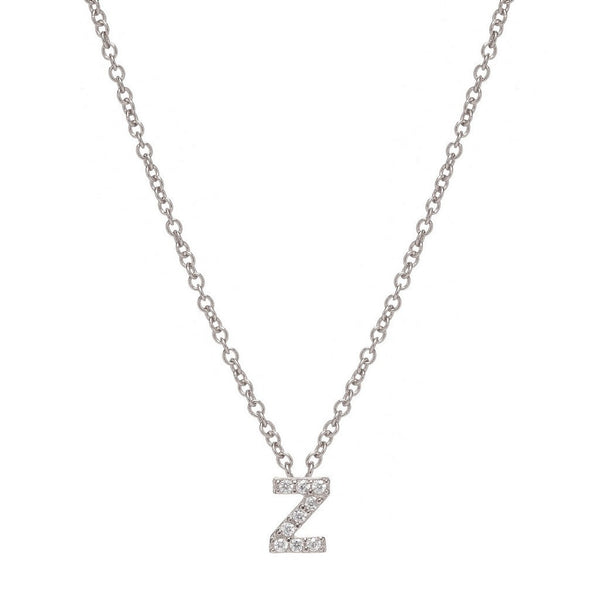 SILVER INITIAL NECKLACE - Sugar Bean Jewelry - 25