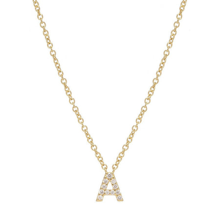 JUST BE YOU ROSE GOLD INITIAL NECKLACE