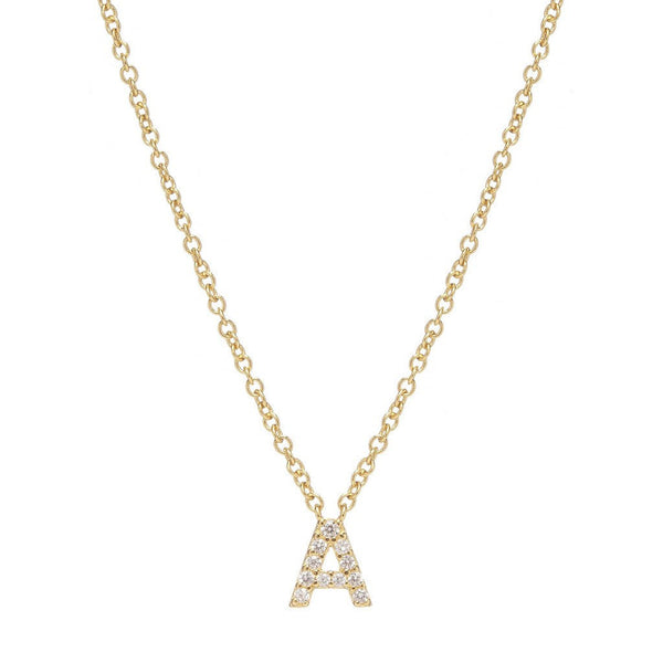 GOLD INITIAL NECKLACE - Sugar Bean Jewelry - 1