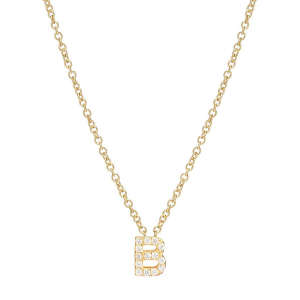 GOLD INITIAL NECKLACE - Sugar Bean Jewelry - 2