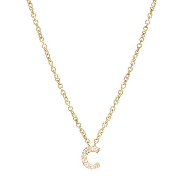 GOLD INITIAL NECKLACE - Sugar Bean Jewelry - 3