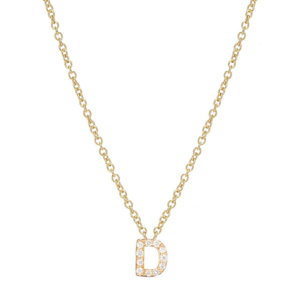 GOLD INITIAL NECKLACE - Sugar Bean Jewelry - 4