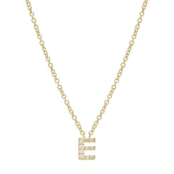GOLD INITIAL NECKLACE - Sugar Bean Jewelry - 5