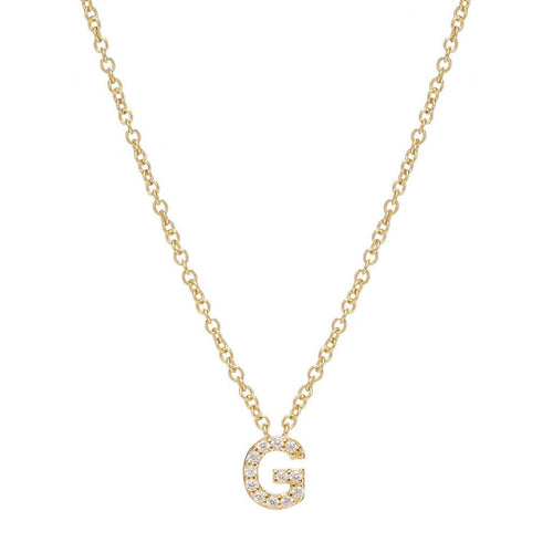 GOLD INITIAL NECKLACE - Sugar Bean Jewelry - 7