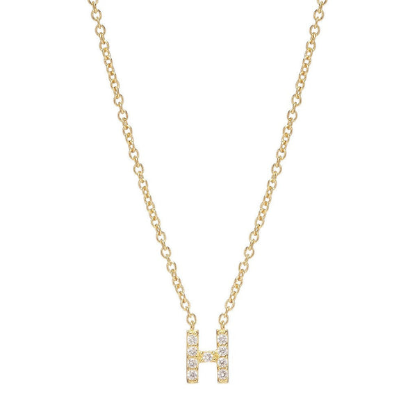 GOLD INITIAL NECKLACE - Sugar Bean Jewelry - 8