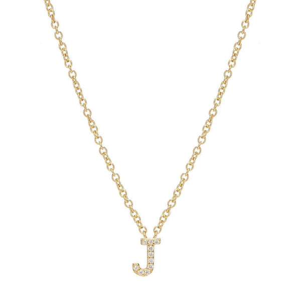 GOLD INITIAL NECKLACE - Sugar Bean Jewelry - 10