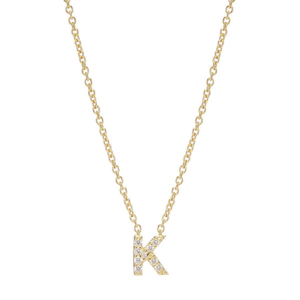 GOLD INITIAL NECKLACE - Sugar Bean Jewelry - 11