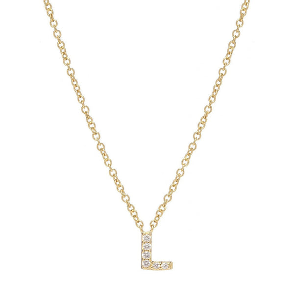 GOLD INITIAL NECKLACE - Sugar Bean Jewelry - 12