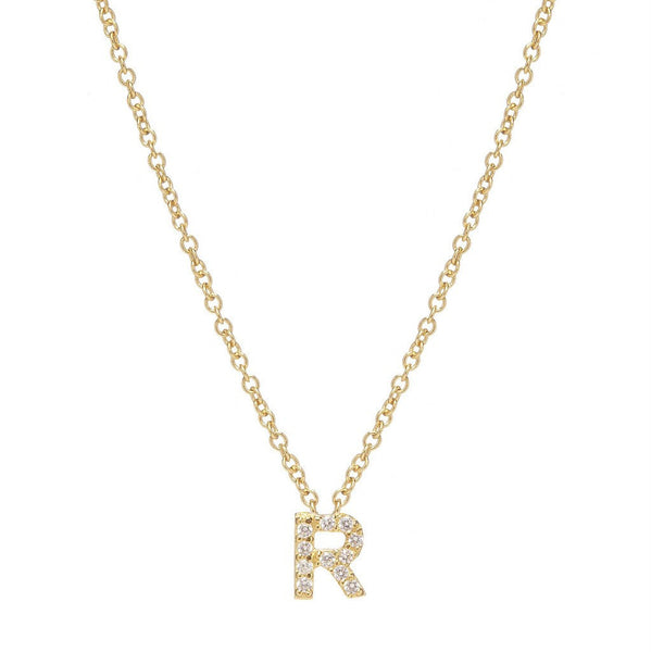 GOLD INITIAL NECKLACE - Sugar Bean Jewelry - 17