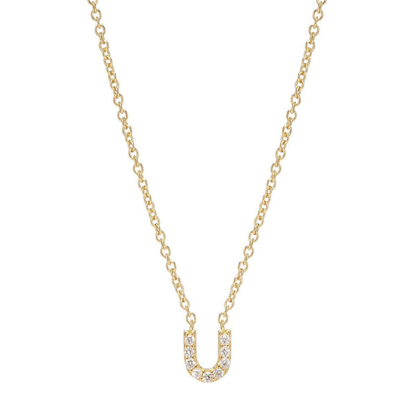 GOLD INITIAL NECKLACE - Sugar Bean Jewelry - 20