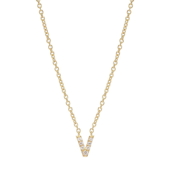 GOLD INITIAL NECKLACE - Sugar Bean Jewelry - 21